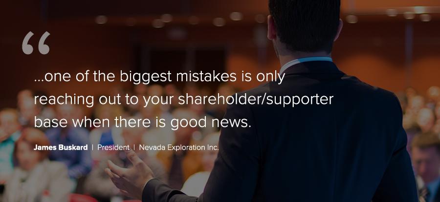 Advice from Nevada Exploration Inc.