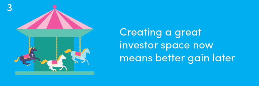 Redesign in a slow economy: Creating a great investor space now means better gain later