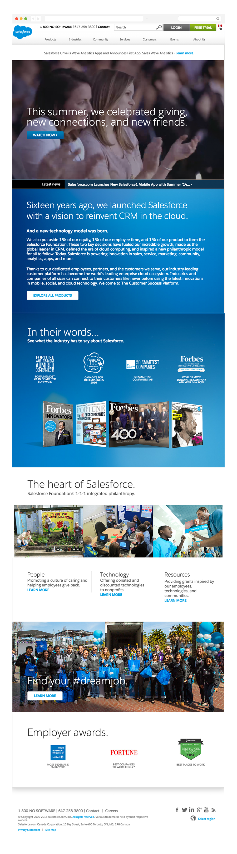 Salesforce About Us page