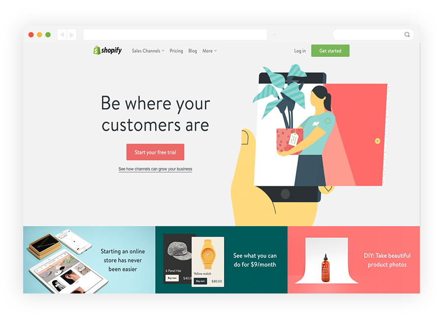Shopify Homepage Free Trial Button
