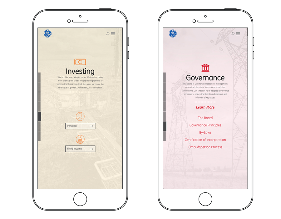 investor mobile experience