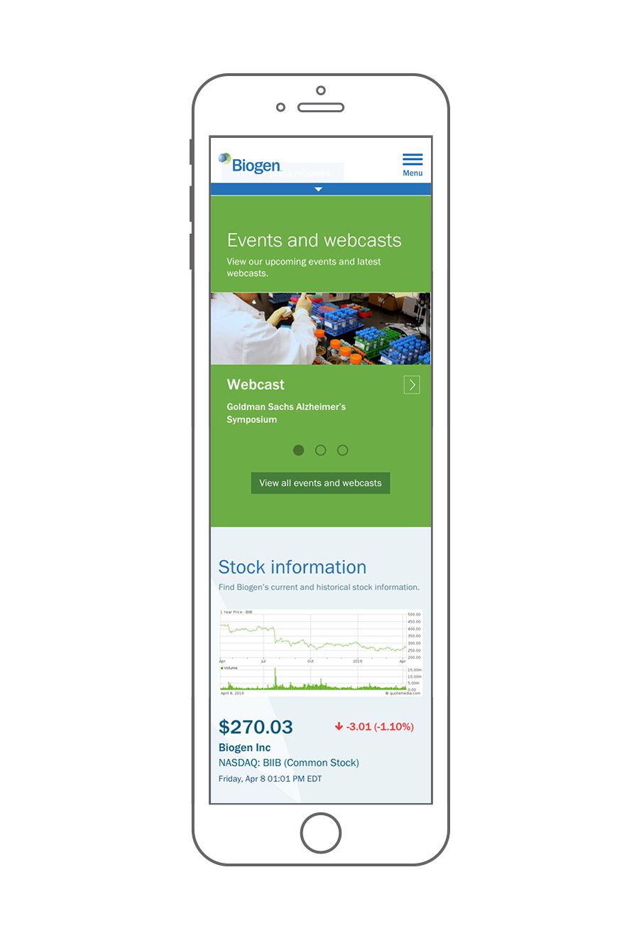 best mobile investor relations websites