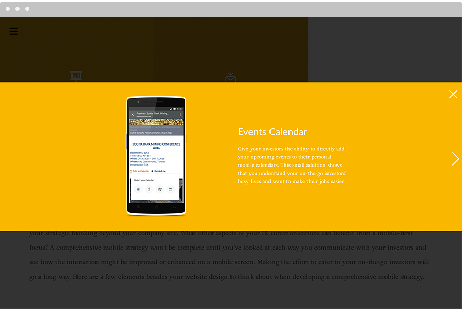 Going Mobile Beyond the Website screenshot
